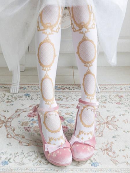 Milanoo Black Lolita Footwear Bows Chains Round Toe Lolita Pumps