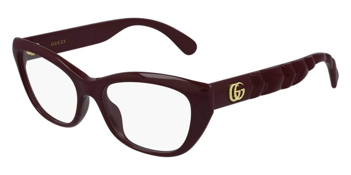 Gucci GG0813O 003 Women's Glasses Burgundy Size 52 - Free Lenses - HSA/FSA Insurance - Blue Light Block Available