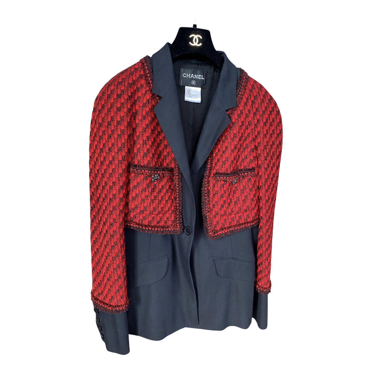 Chanel \N Red Tweed jacket for Women 44 FR