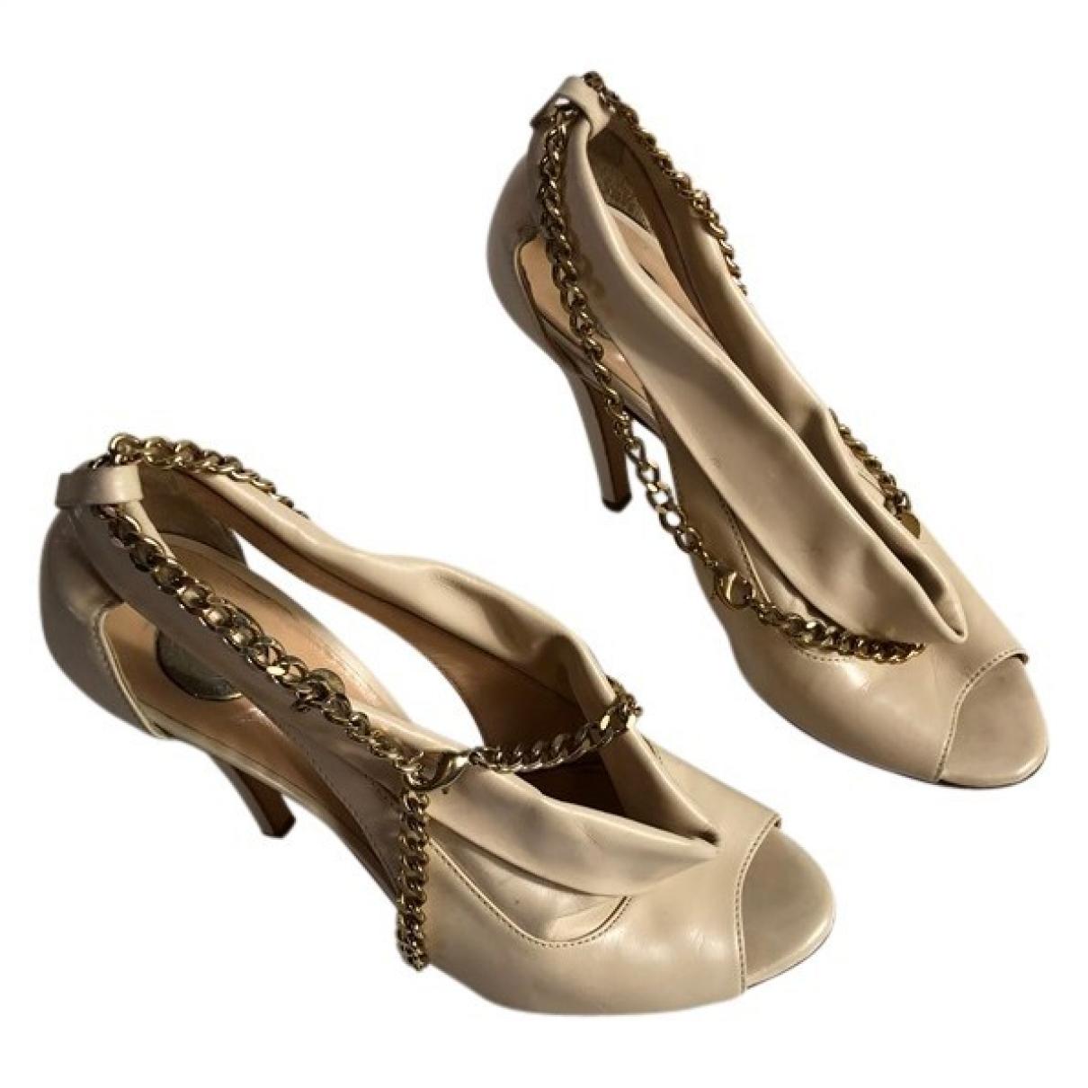Elisabetta Franchi \N Beige Leather Heels for Women 36 IT