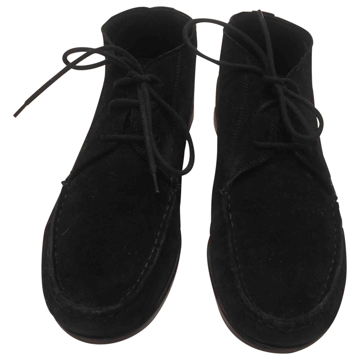 Agl \N Black Suede Ankle boots for Women 39.5 EU