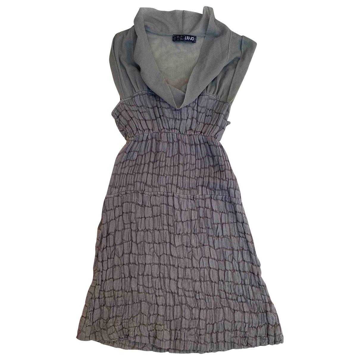 Liu.jo \N Kleid in  Gruen Baumwolle