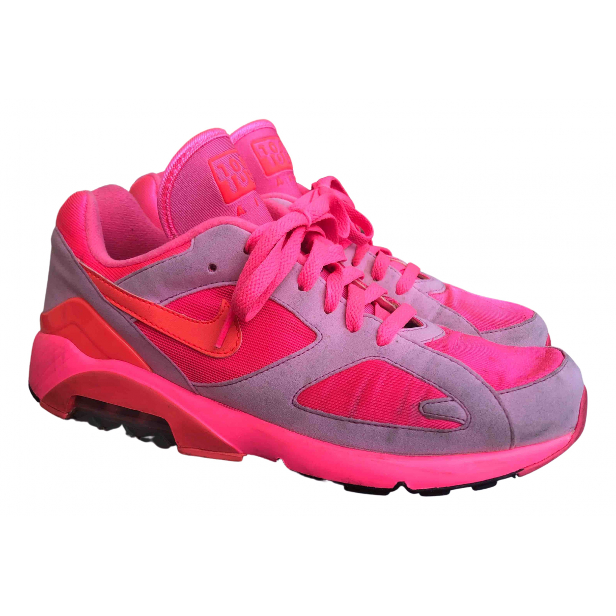 Nike X Comme Des Garcons Air Max 180 Sneakers in  Rosa Leinen