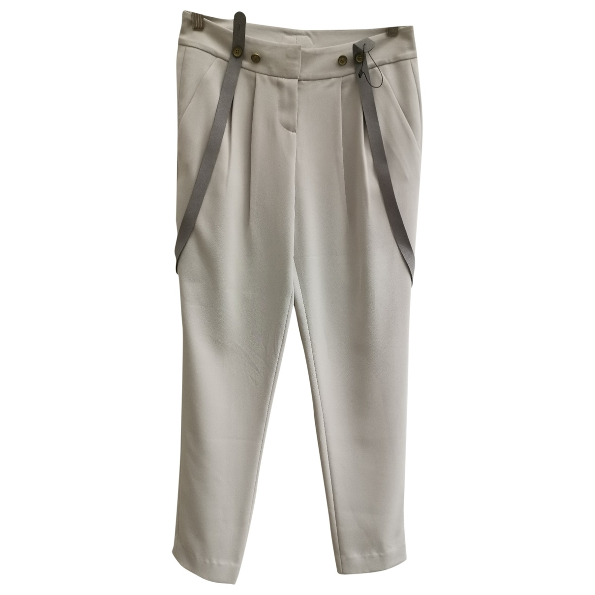 Emporio Armani \N Grey Trousers for Women 0 0-5