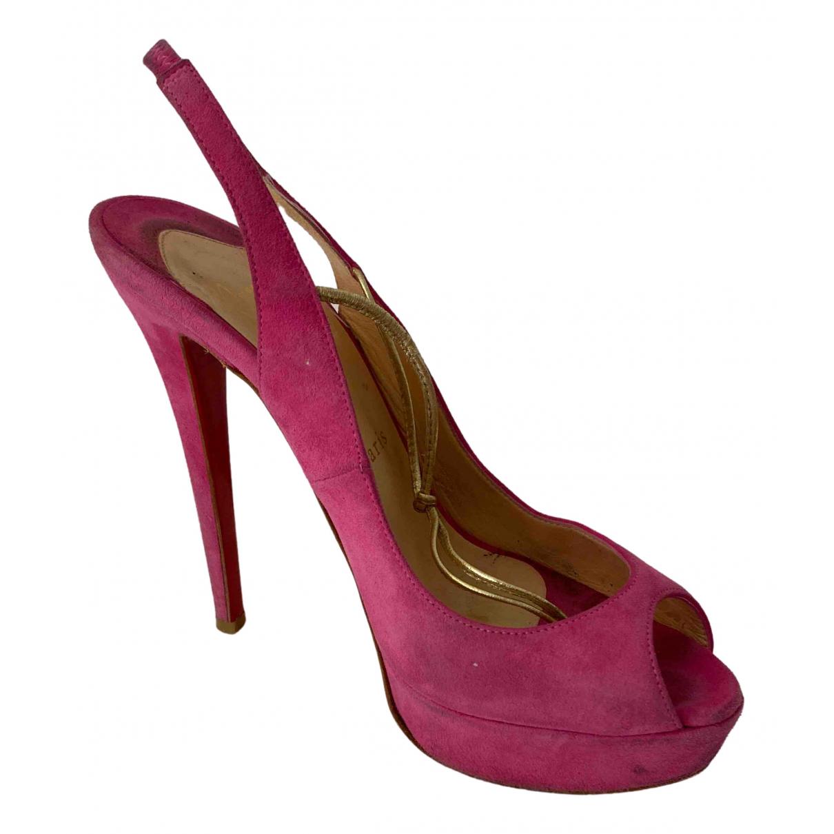 Christian Louboutin \N Pink Suede Heels for Women 36.5 EU