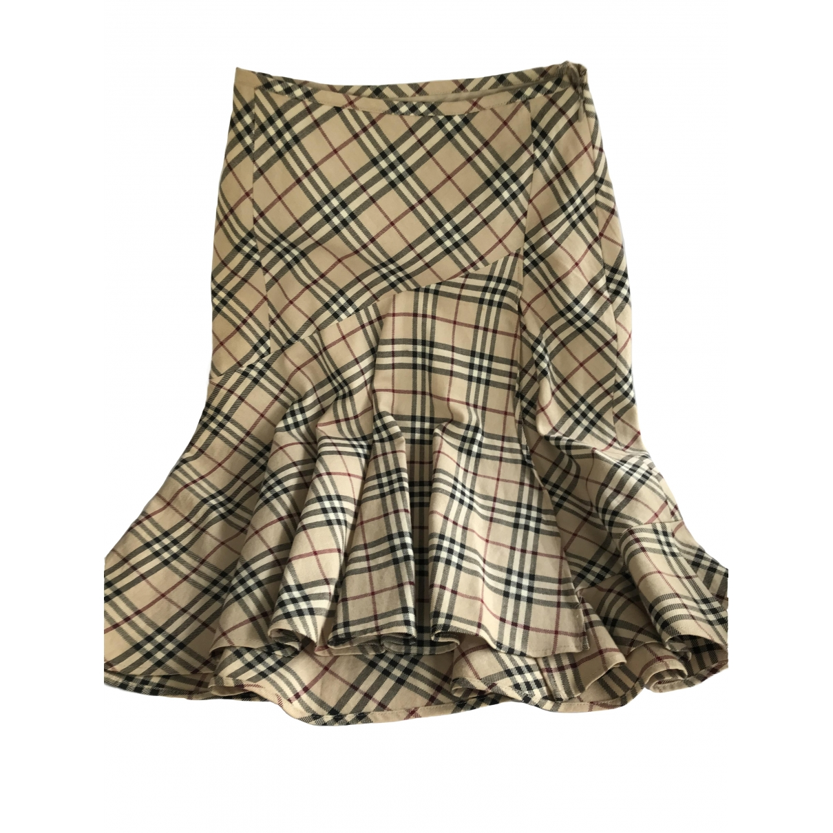 Burberry \N Beige Cotton skirt for Women 36 FR