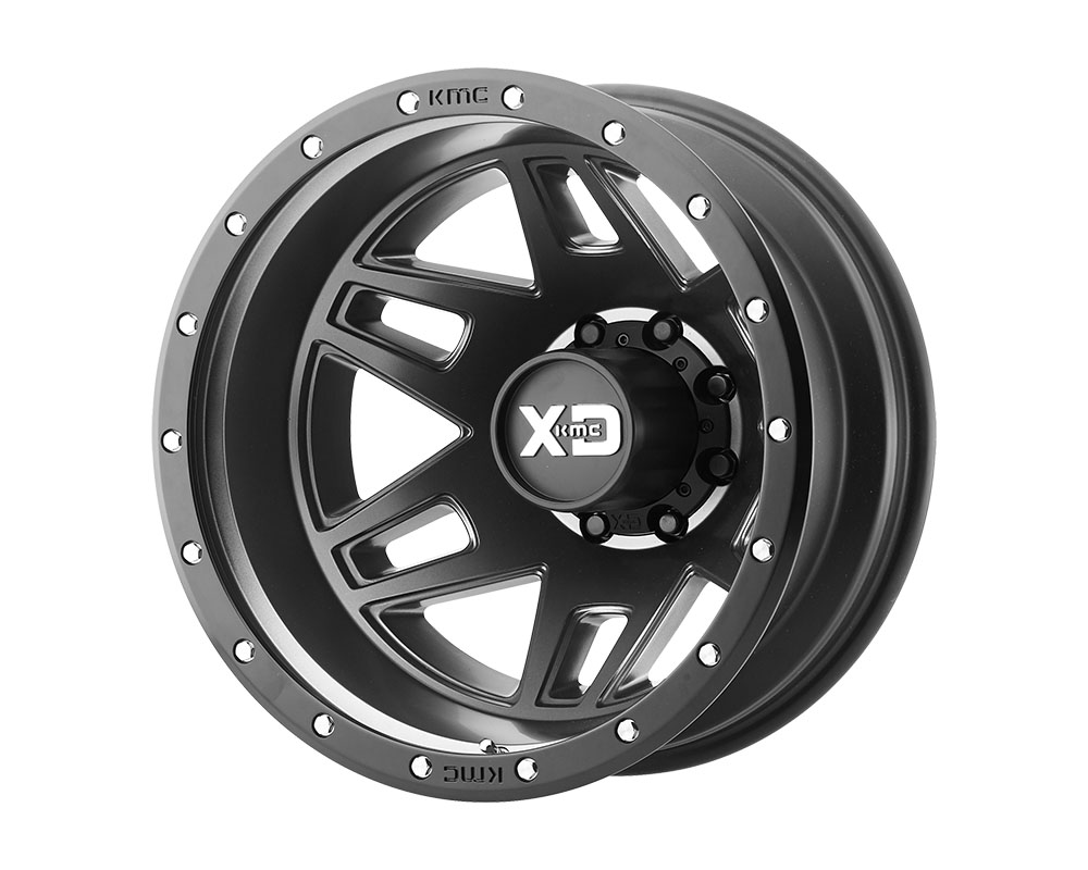 XD Series XD130275877142 XD130 Machete Dually Wheel 20x7.5 8x8x170 +142mm Satin Black w/Reinforcing Ring