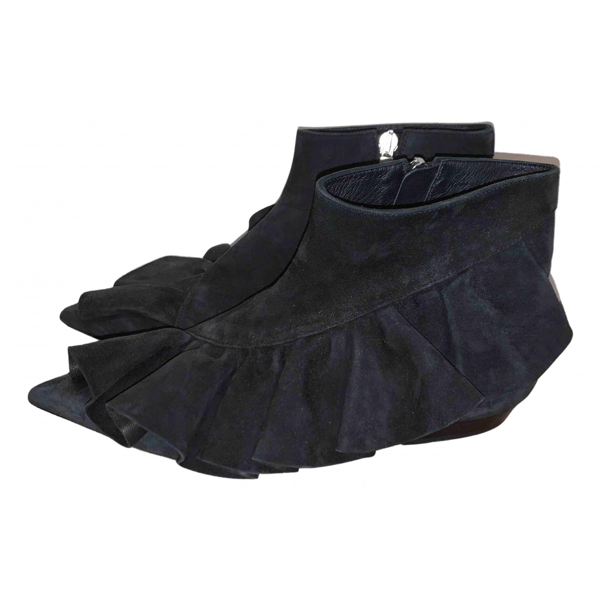 J.w. Anderson N Black Suede Ankle boots for Women 39 EU