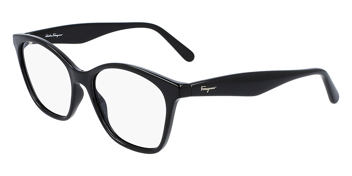 Salvatore Ferragamo SF2873 001 Women's Glasses Black Size 53 - Free Lenses - HSA/FSA Insurance - Blue Light Block Available