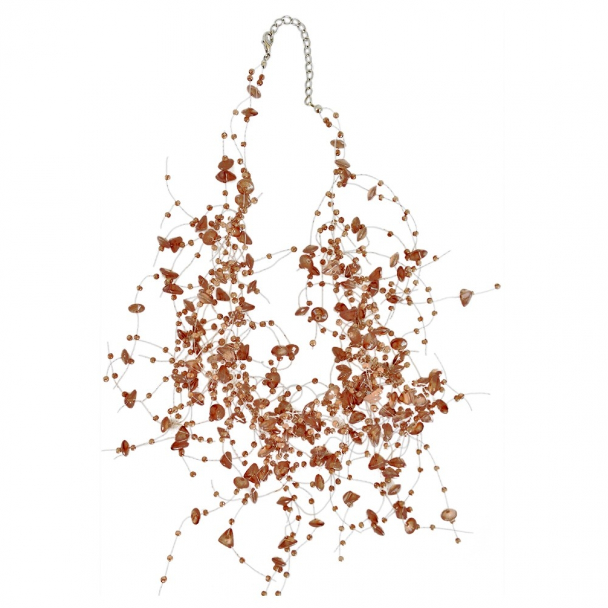 Non Signé / Unsigned Motifs Ethniques Brown necklace for Women \N