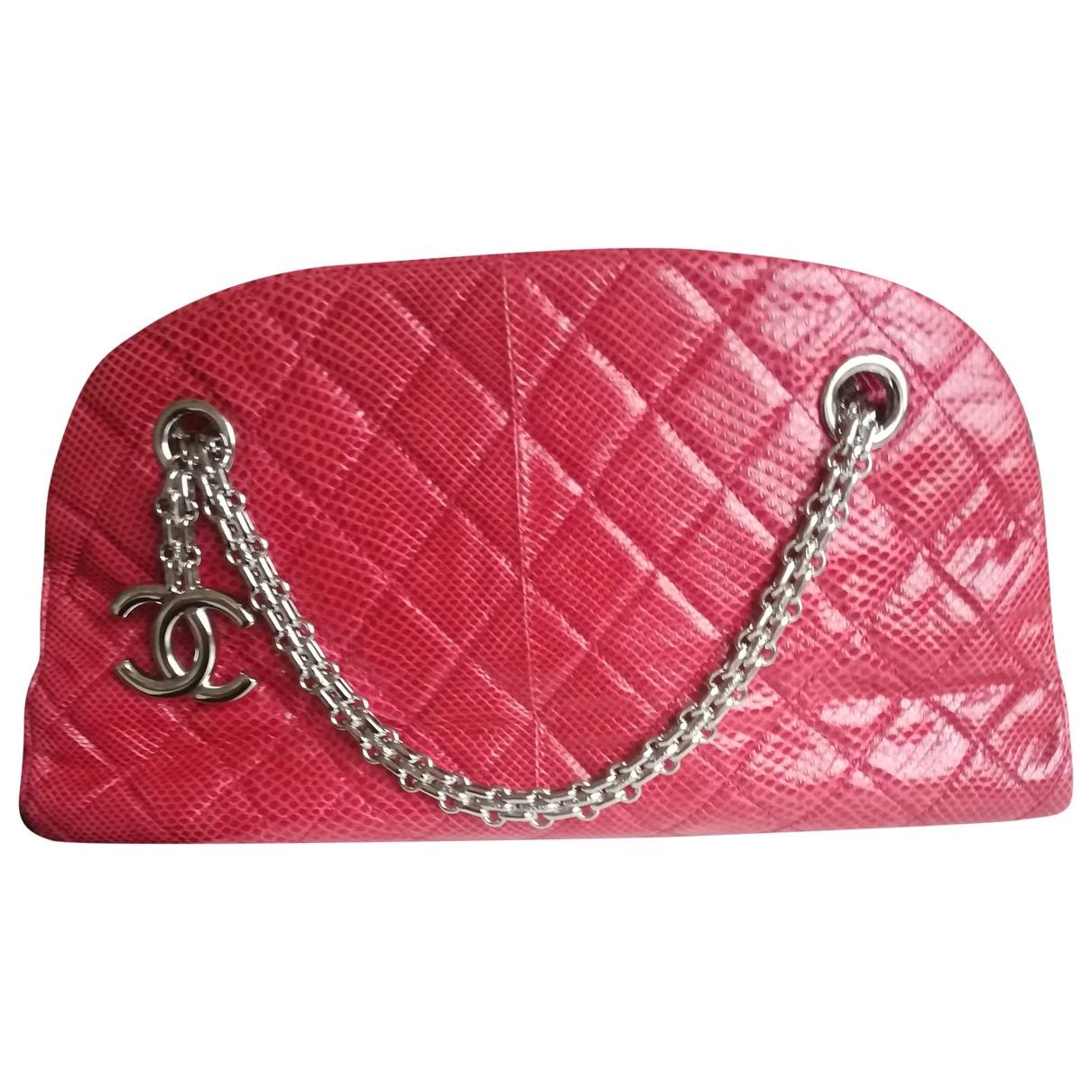Chanel Mademoiselle Red Lizard handbag for Women \N