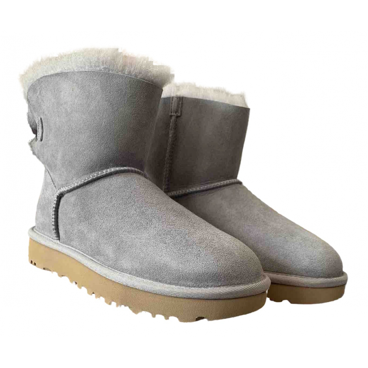 Ugg \N Grey Suede Boots for Women 36 EU