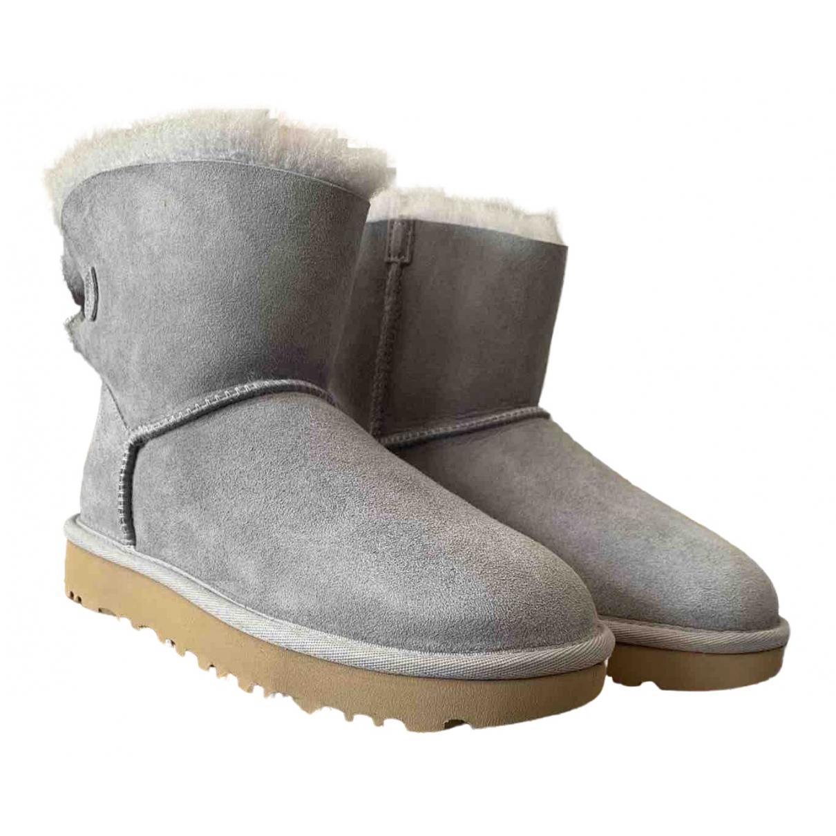 Ugg \N Grey Suede Boots for Women 36 EU