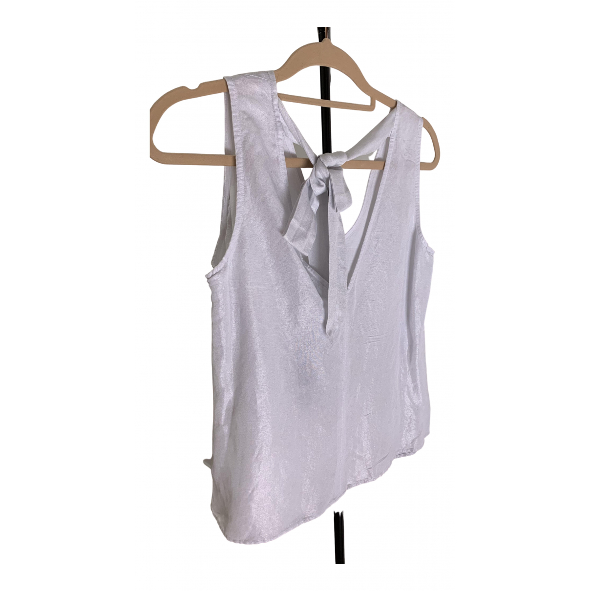 Emporio Armani - Top   pour femme en lin - blanc