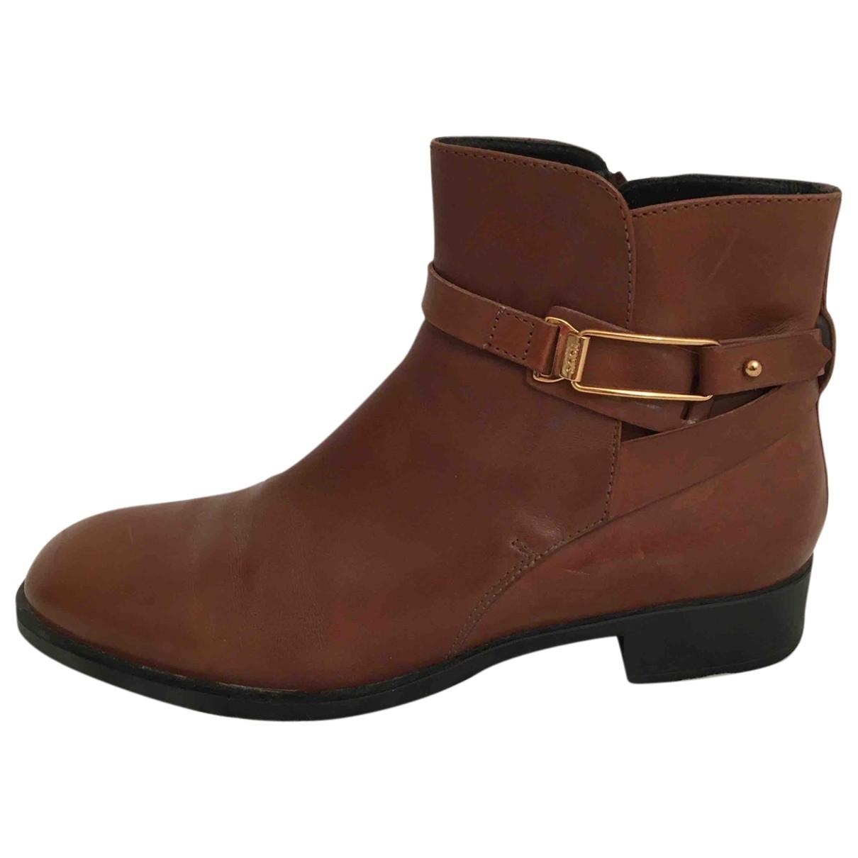 Tods - Boots   pour femme en cuir - camel