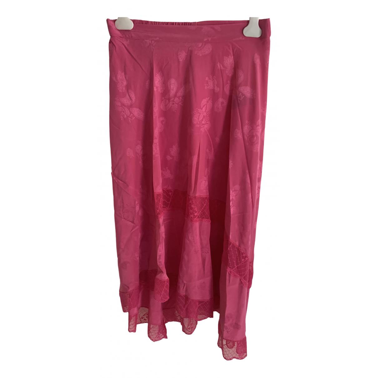 Zadig & Voltaire - Jupe Spring Summer 2020 pour femme en soie - rose