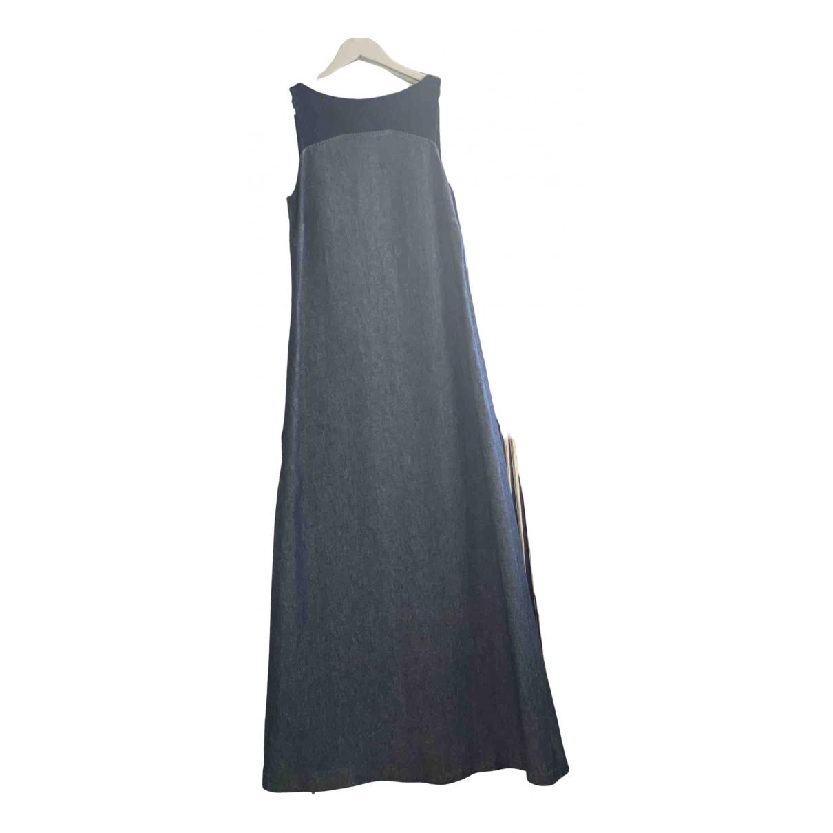 Trussardi - Robe   pour femme en denim - bleu