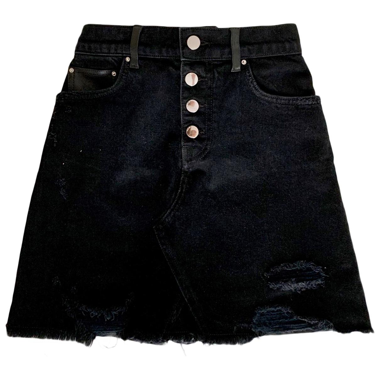 Amiri - Jupe   pour femme en cuir - noir