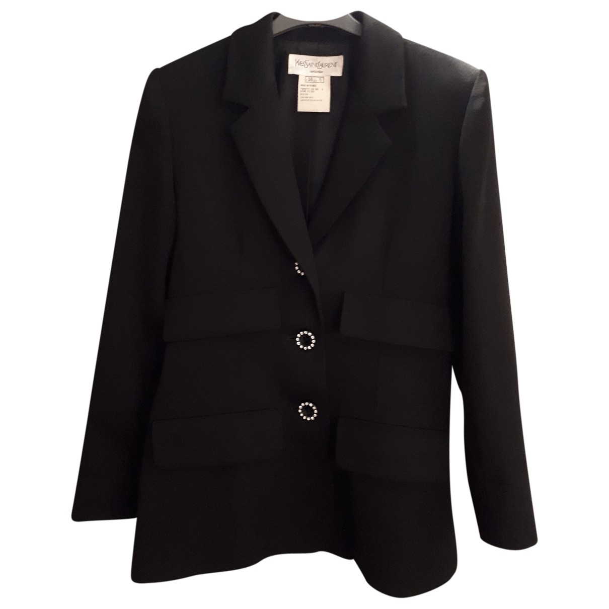 Yves Saint Laurent \N Black Wool jacket for Women 38 FR