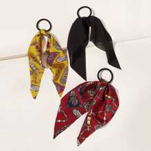 3pcs Chain Pattern Hair Tie