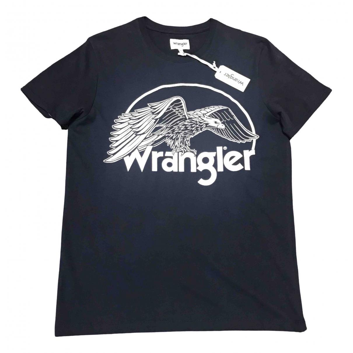 Wrangler - Tee shirts   pour homme en coton - anthracite