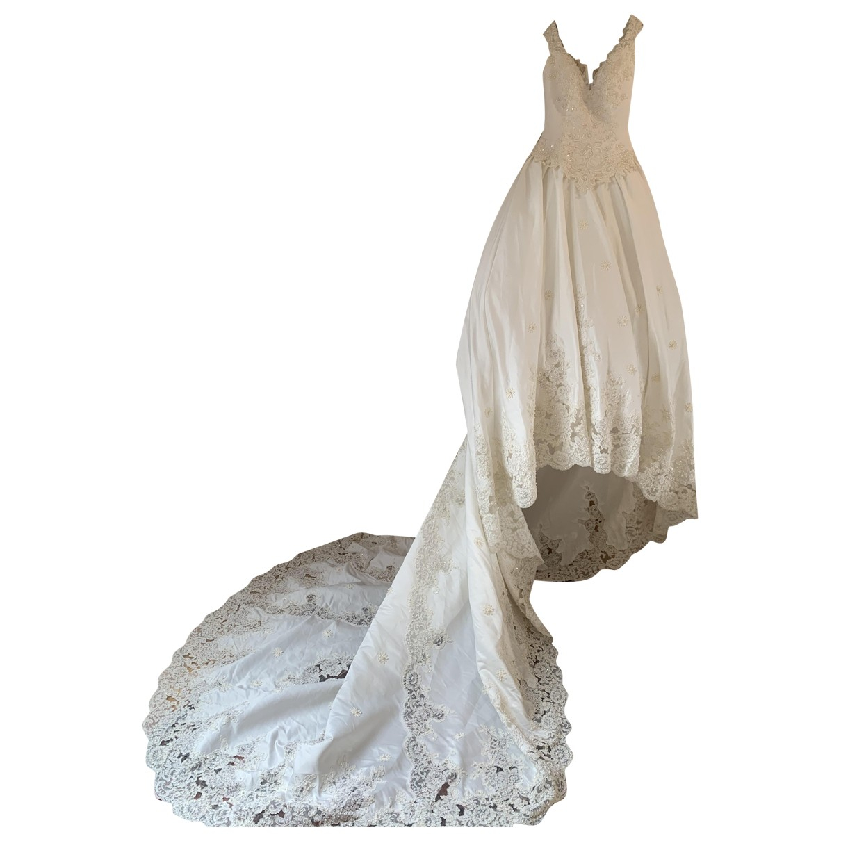 Italia Independent \N White Silk dress for Women 44 IT