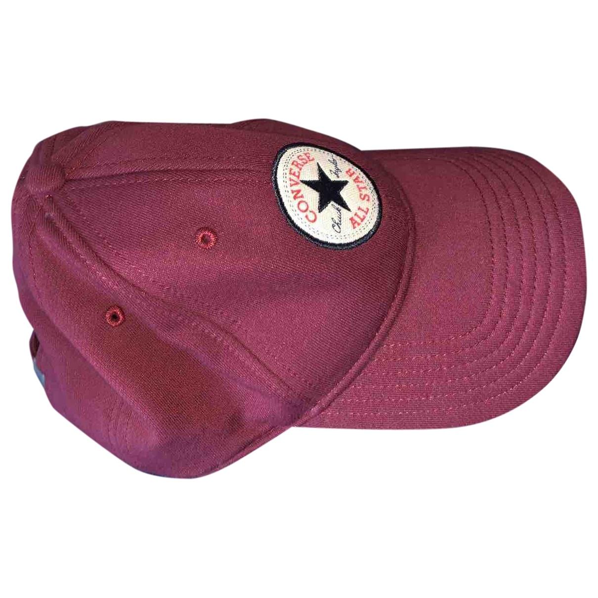 Converse - Chapeau & Bonnets   pour homme en toile - bordeaux