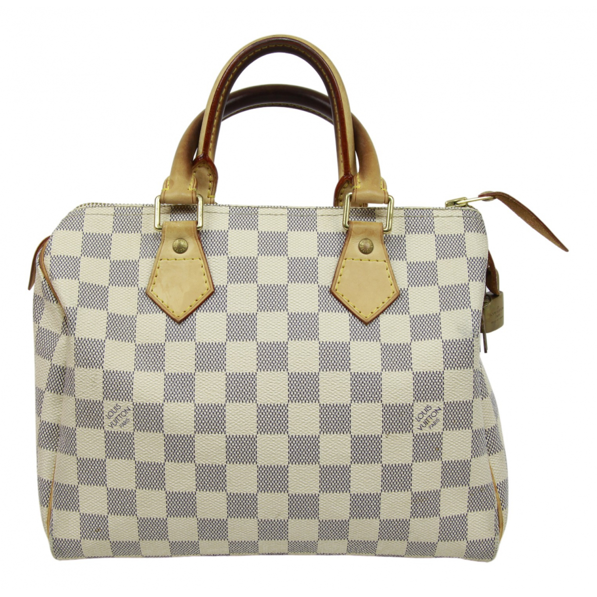 Louis Vuitton Speedy Handtasche in  Blau Leinen