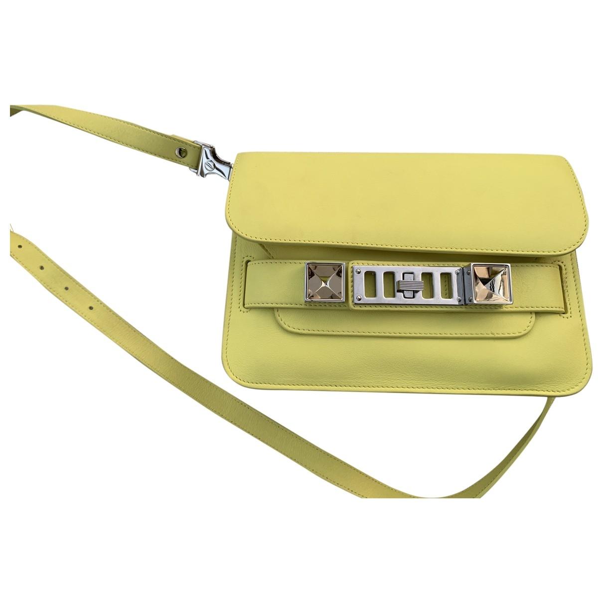 Proenza Schouler PS11 Handtasche in  Gelb Leder