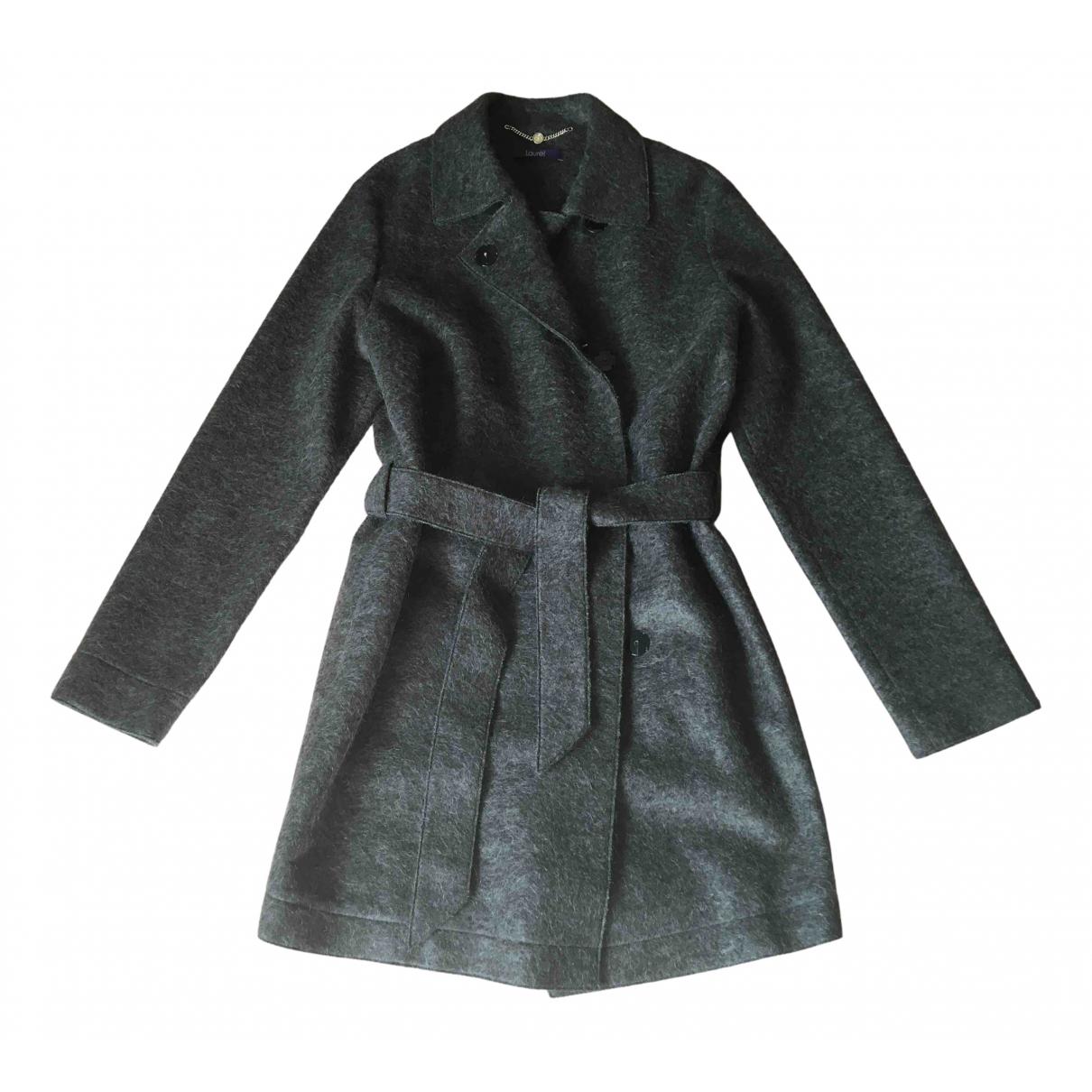 Laurel - Manteau   pour femme en laine - kaki