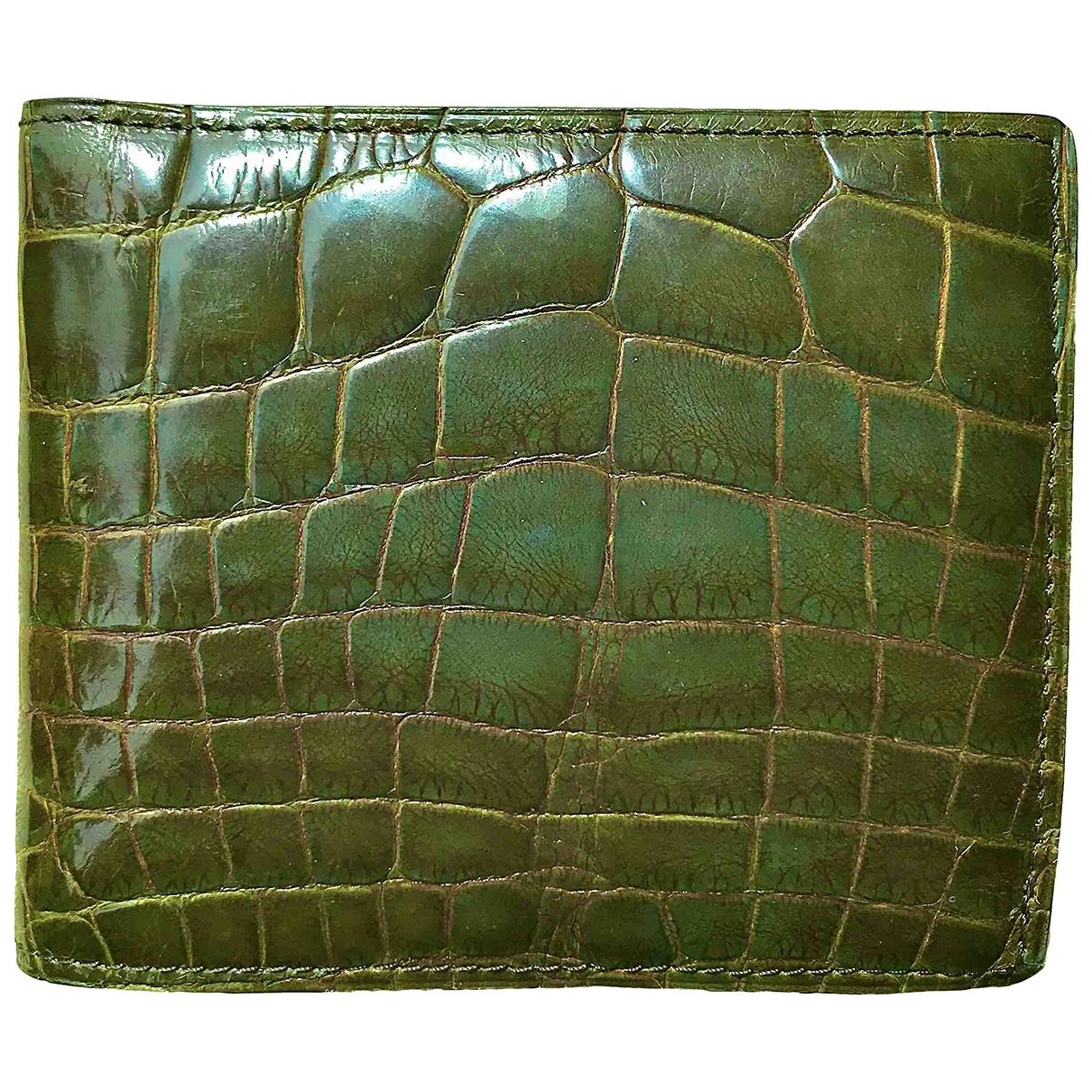Tom Ford - Petite maroquinerie   pour homme en alligator - vert