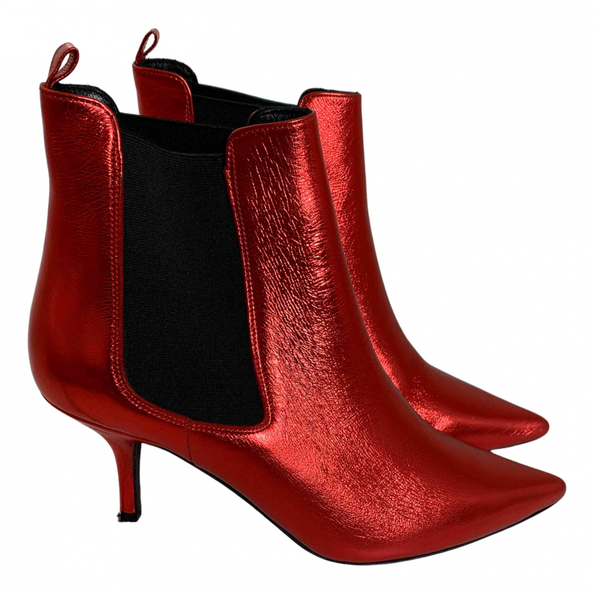 Anine Bing \N Stiefel in  Rot Leder