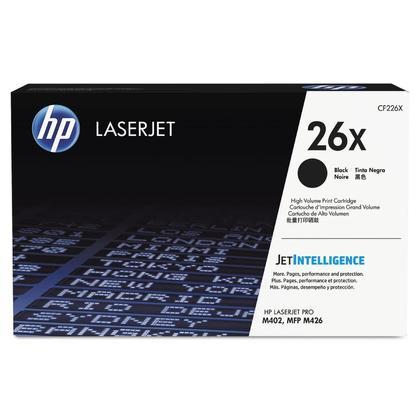 HP 26X CF226X cartouche de toner LaserJet noir d'origine - plus haut rendement de HP 26A CF226A