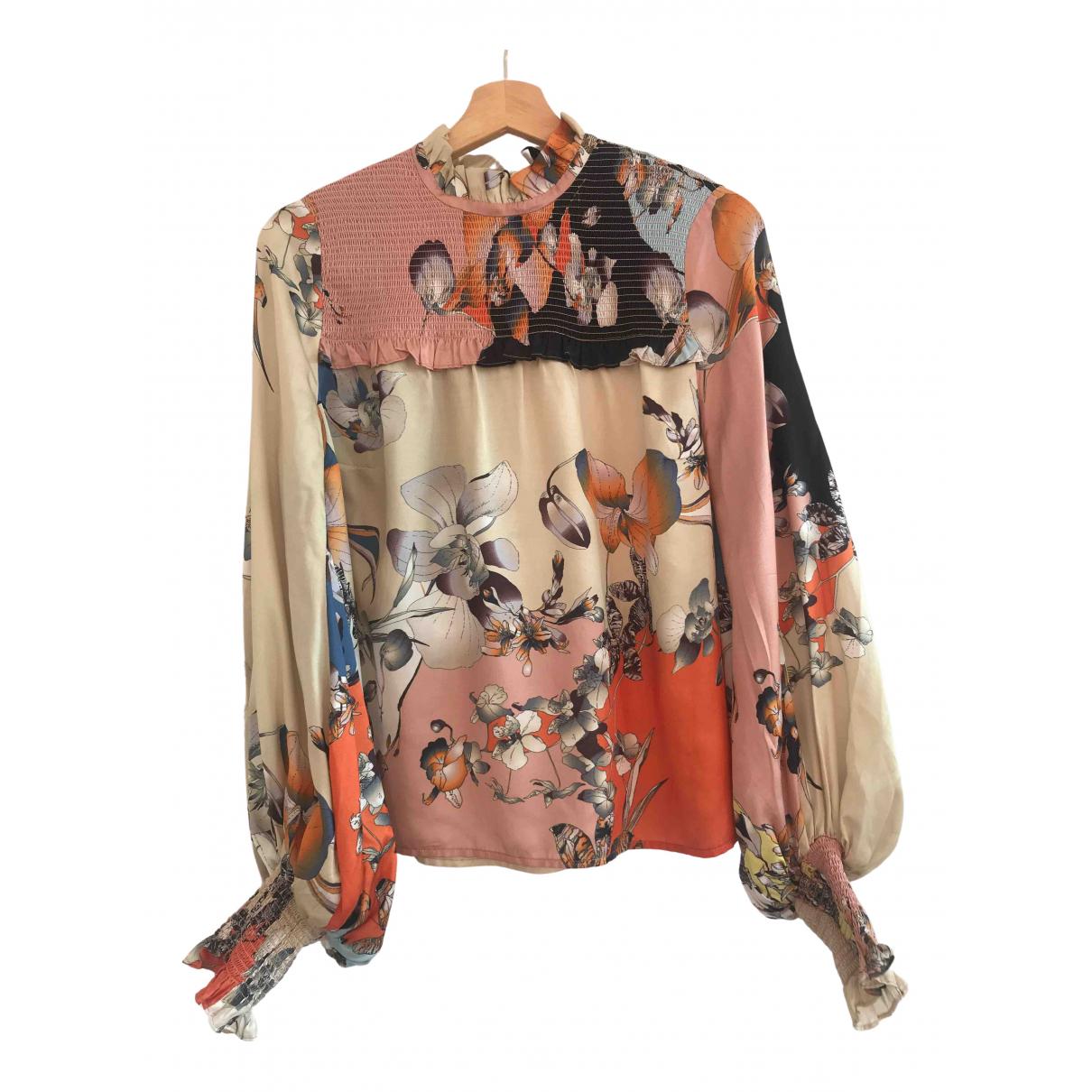 Munthe - Top   pour femme en soie - multicolore