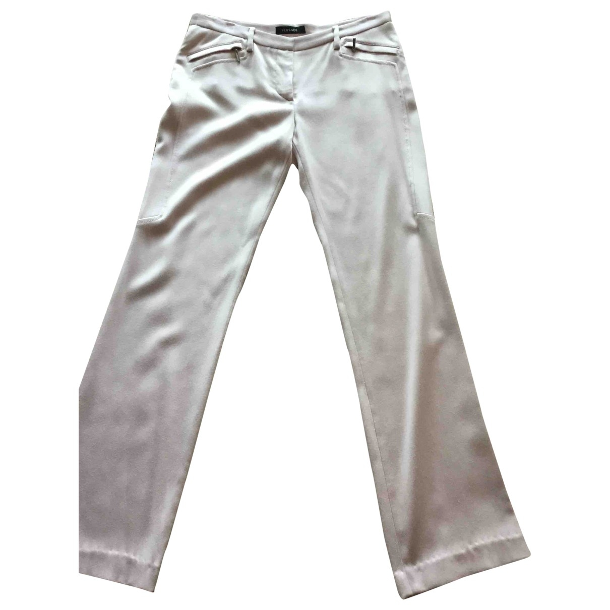 Versace \N Pink Trousers for Women 32 FR