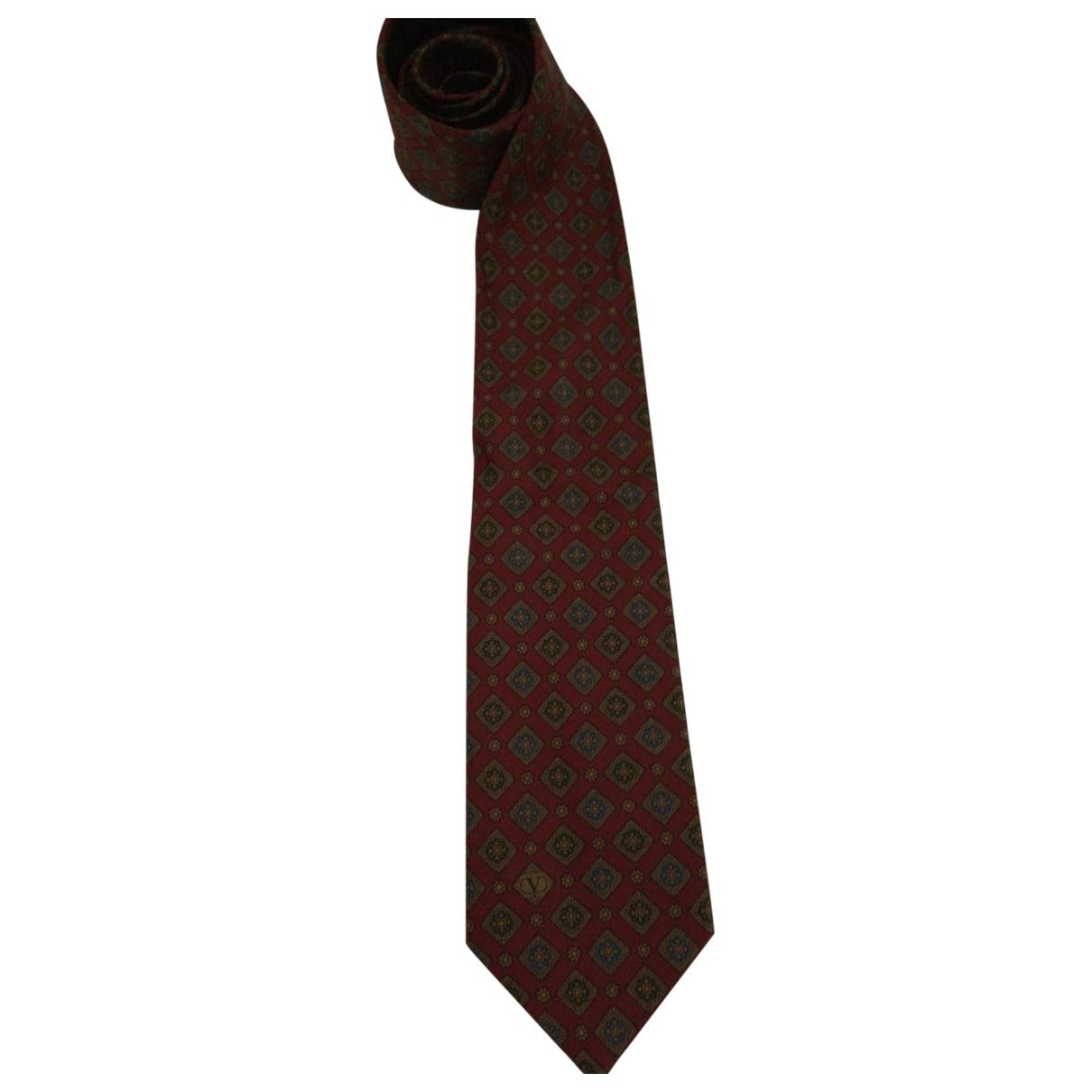 Valentino Garavani \N Burgundy Silk Ties for Men \N