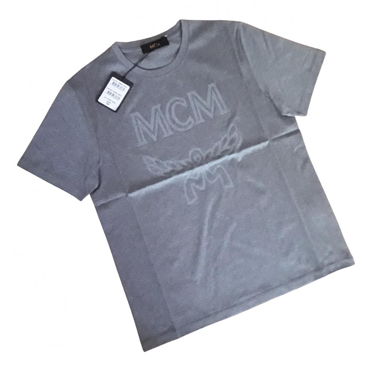 Mcm - Tee shirts   pour homme en coton - argente