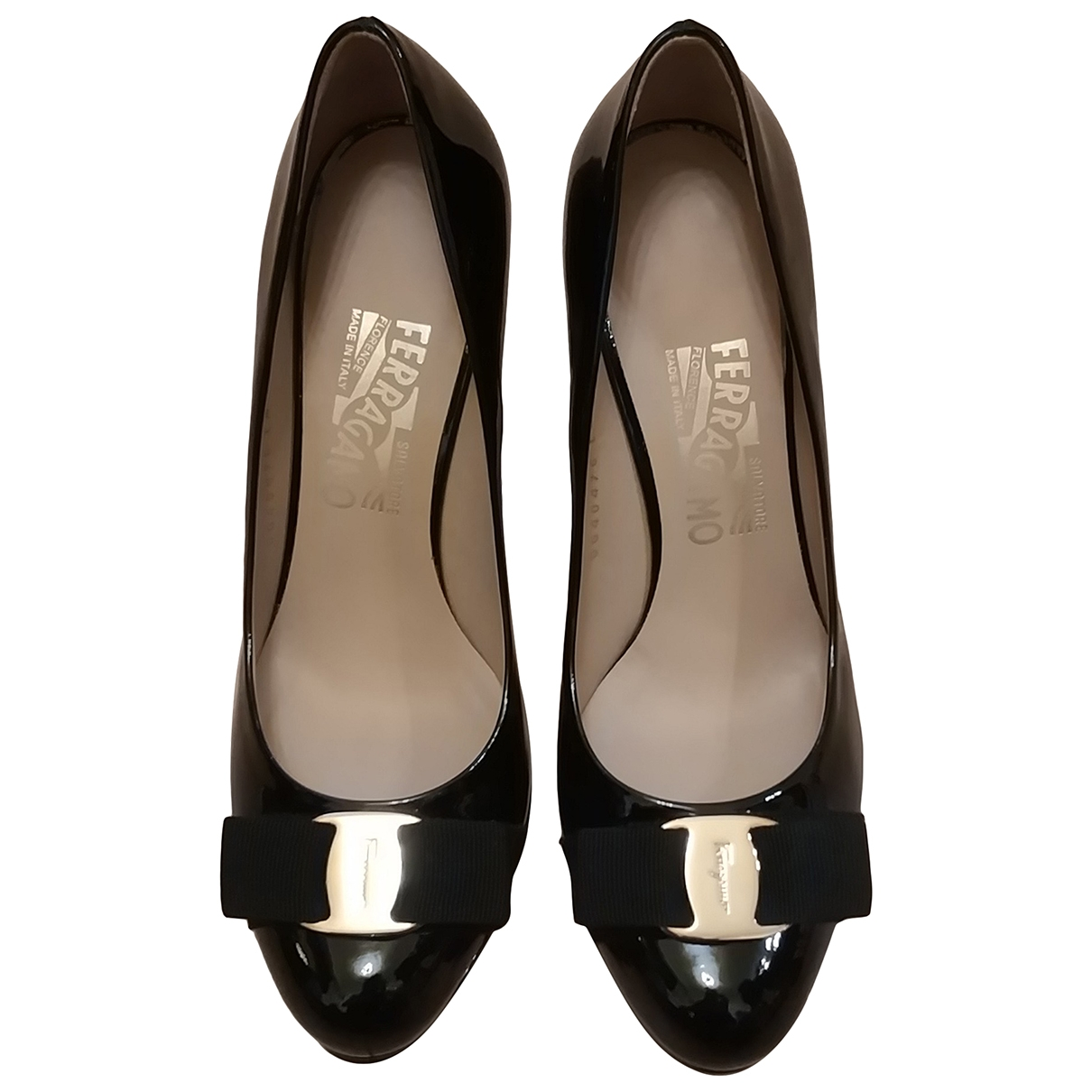 Salvatore Ferragamo \N Black Patent leather Heels for Women 7 UK