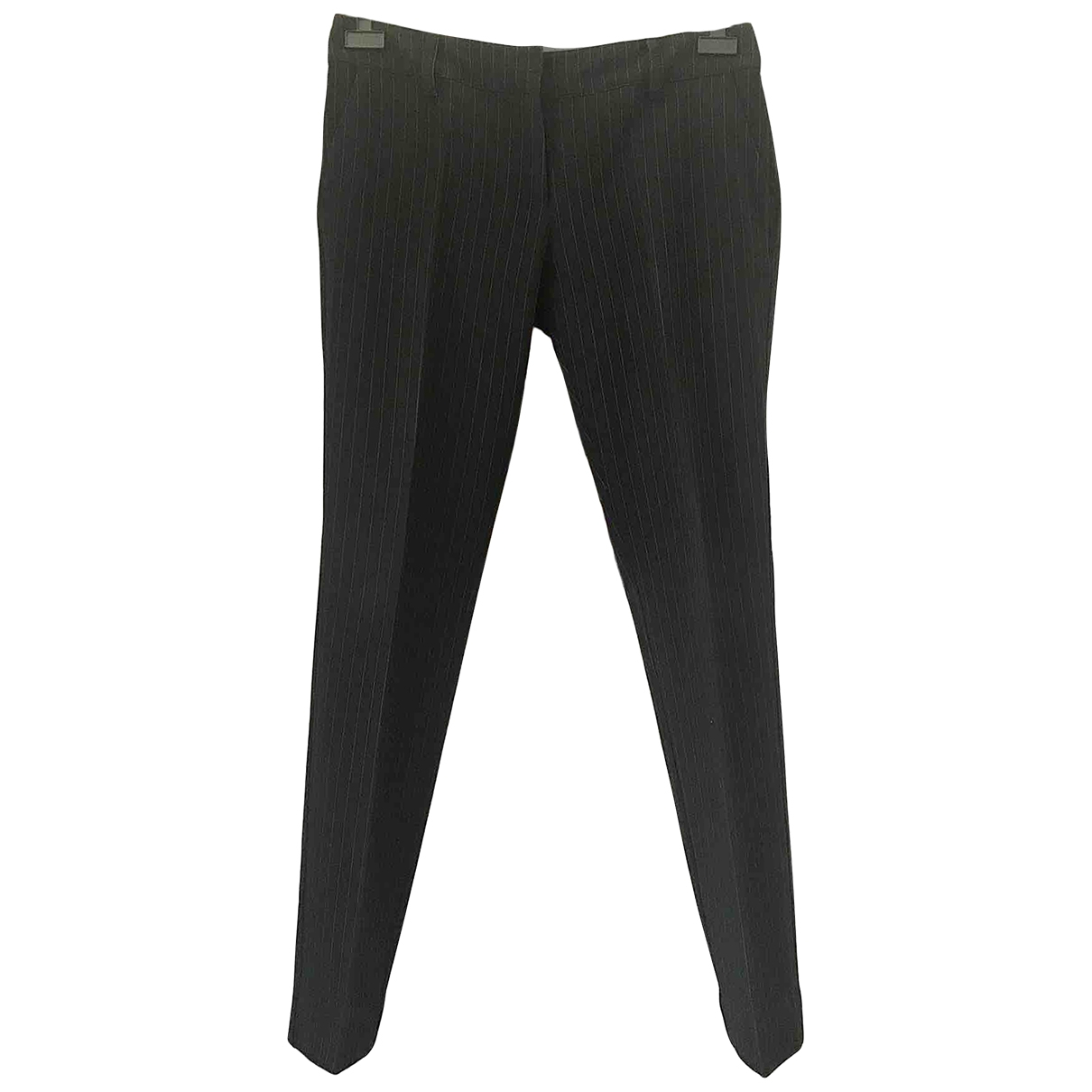 Non Signé / Unsigned \N Black Trousers for Women 44 IT