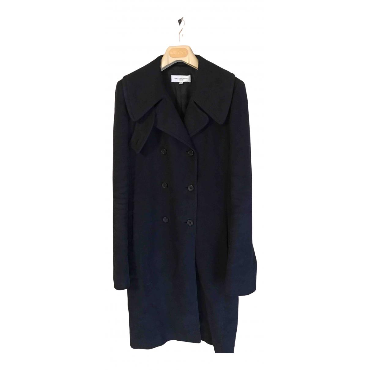 Balenciaga N Black Cotton coat for Women 36 FR