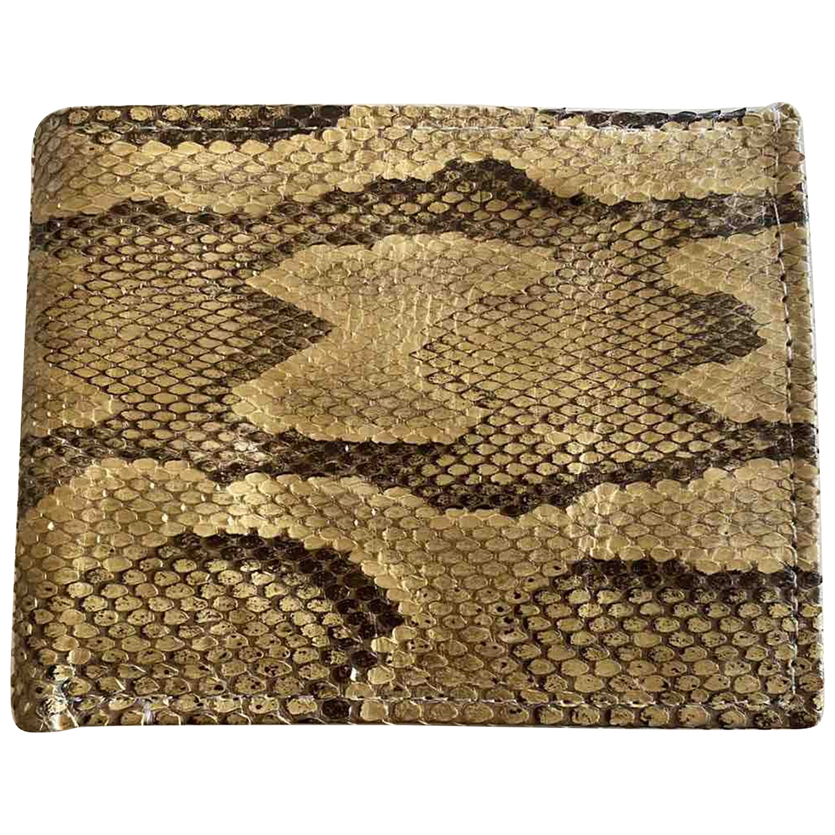 Non Signé / Unsigned \N Python Small bag, wallet & cases for Men \N