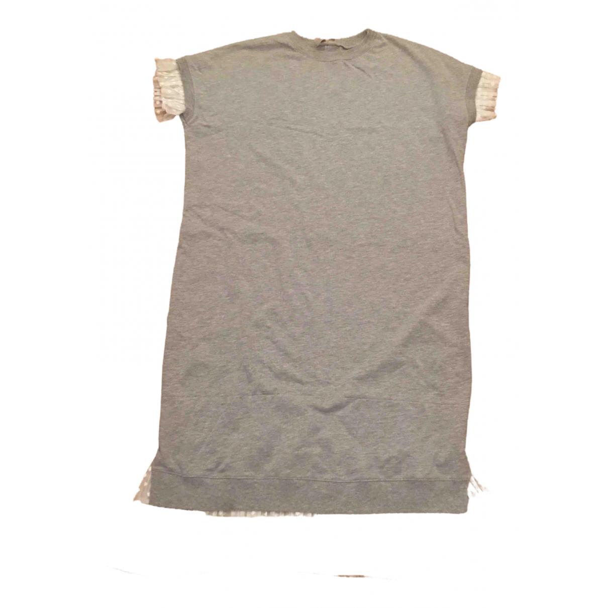 Asos \N Kleid in  Grau Baumwolle