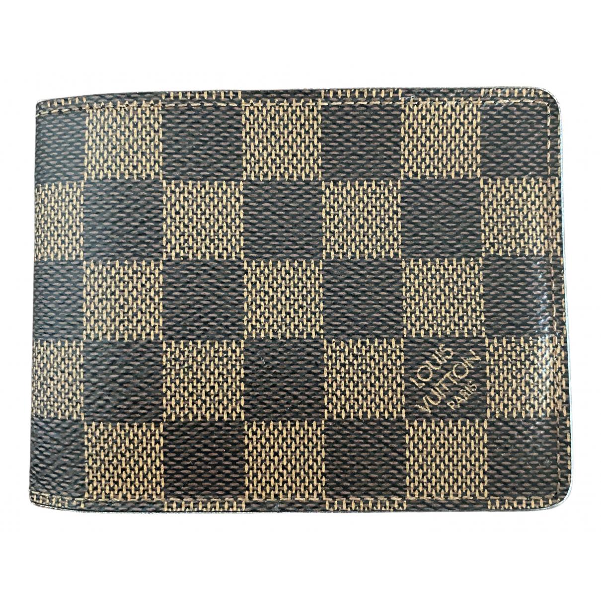Louis Vuitton N Brown Cloth Small bag, wallet & cases for Men N