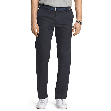 IZOD American Chino Mens Slim Fit, 36 30, Blue
