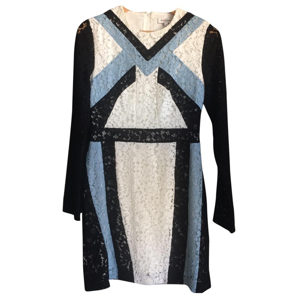 Non Signé / Unsigned \N Multicolour Cotton - elasthane dress for Women 8 UK