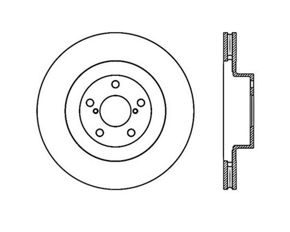 StopTech 126.47018SL Sport Slotted Brake Rotor Front Left