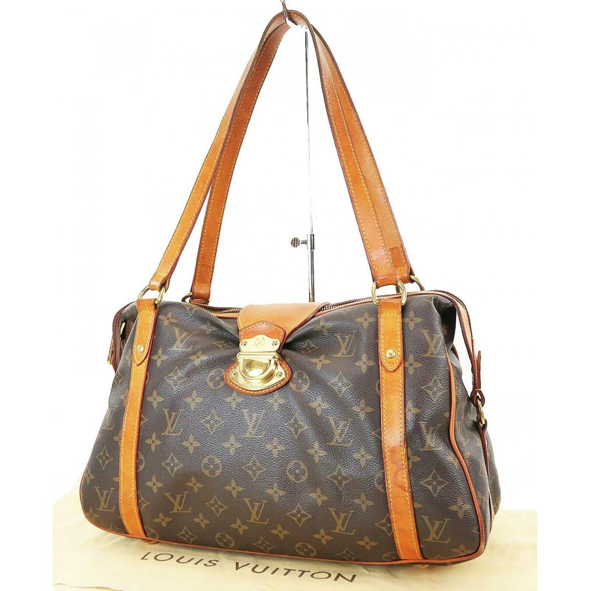 Louis Vuitton - Sac a main Stresa pour femme en cuir - marron