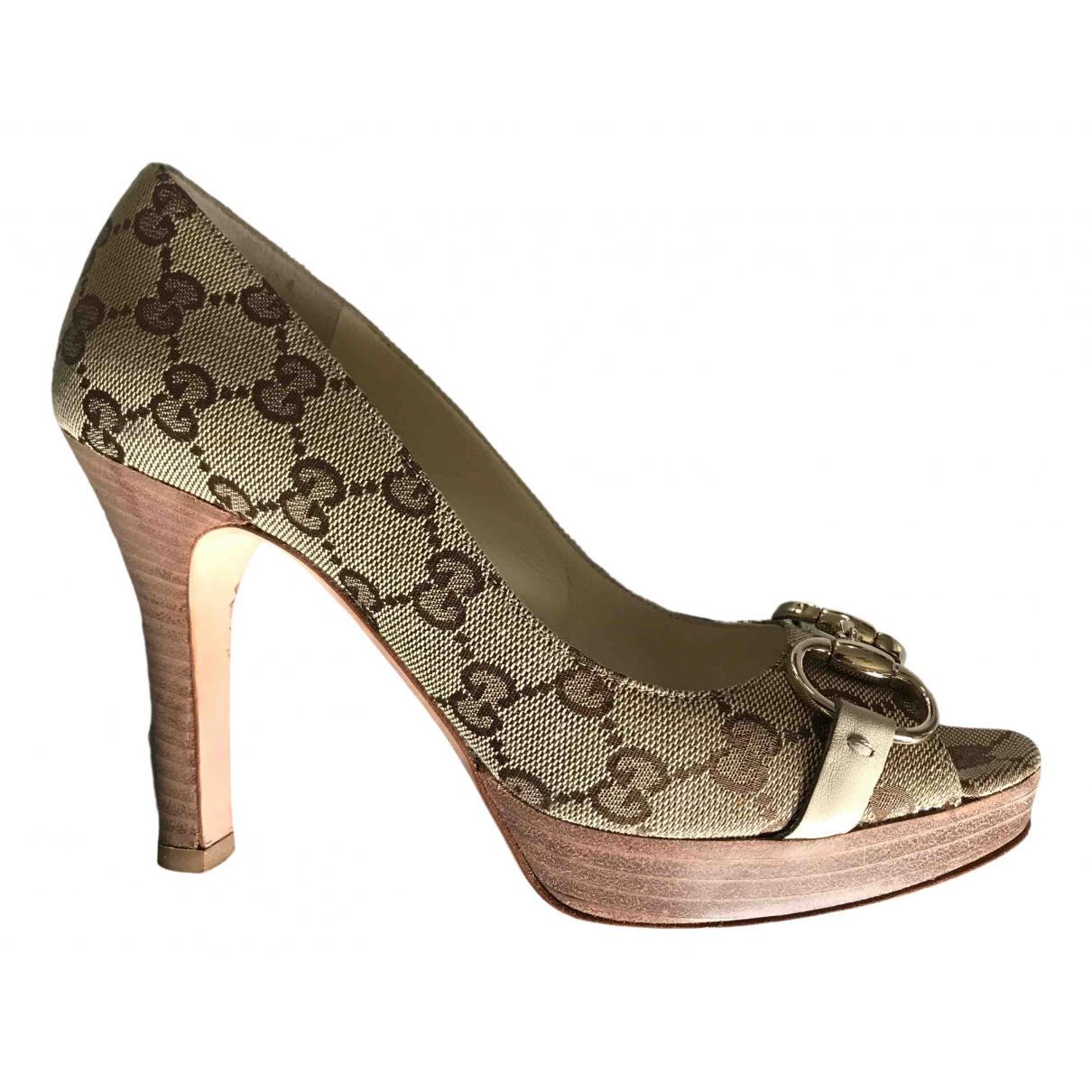 Gucci - Escarpins   pour femme en toile - kaki