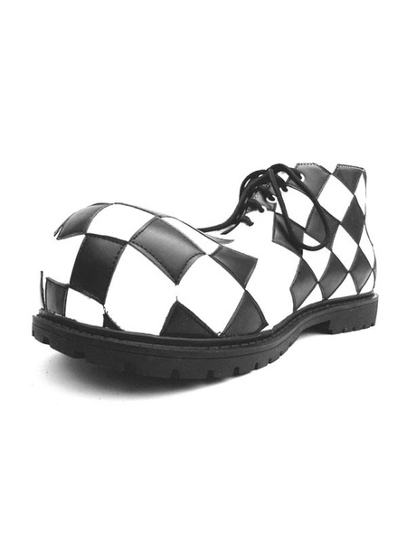 Milanoo Circus Clown Shoes Checkered Shoes