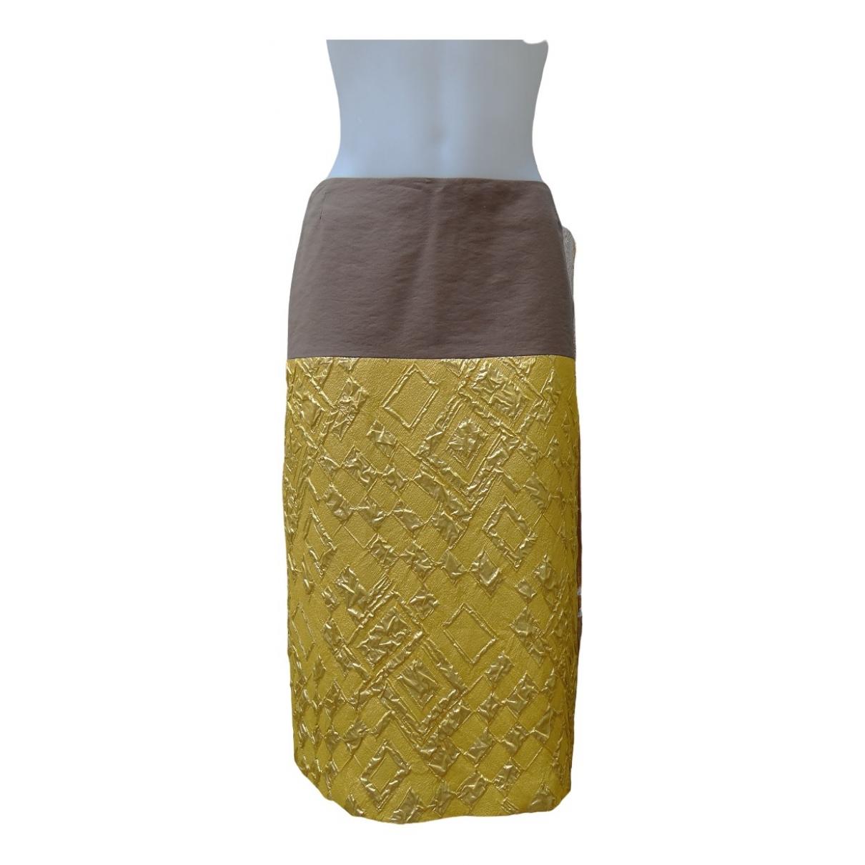 Dries Van Noten - Jupe   pour femme en soie - dore
